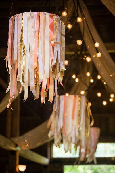 Image result for chandeliers con cintas