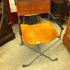 Leather Directors Chair Ergonomic Reclining Ottoman Made From Old Golf Clubs Would
