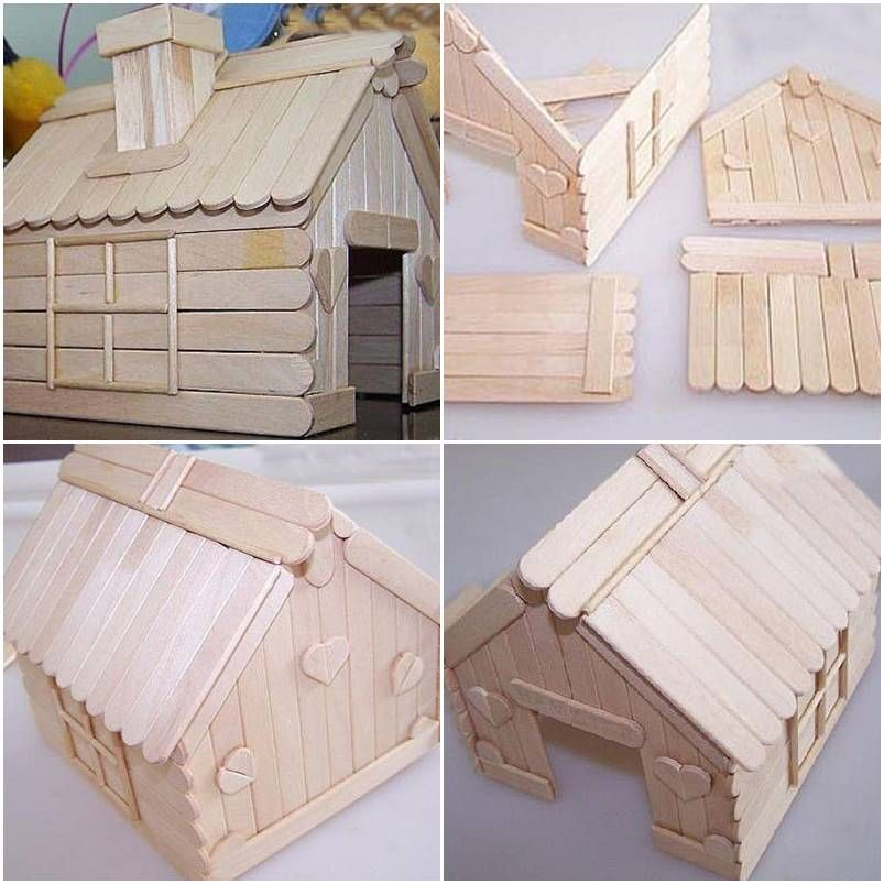 How To Build A House With Popsicle Sticks Step By Step DIY