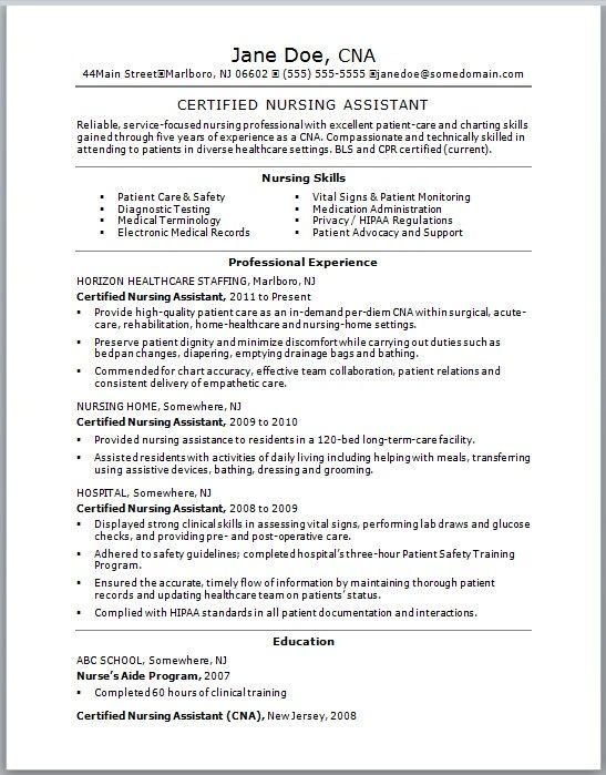 nursing attendant resumes