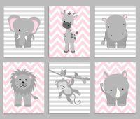 Zoo Nursery Decor, Baby Girl Nursery, Safari Nursery ...