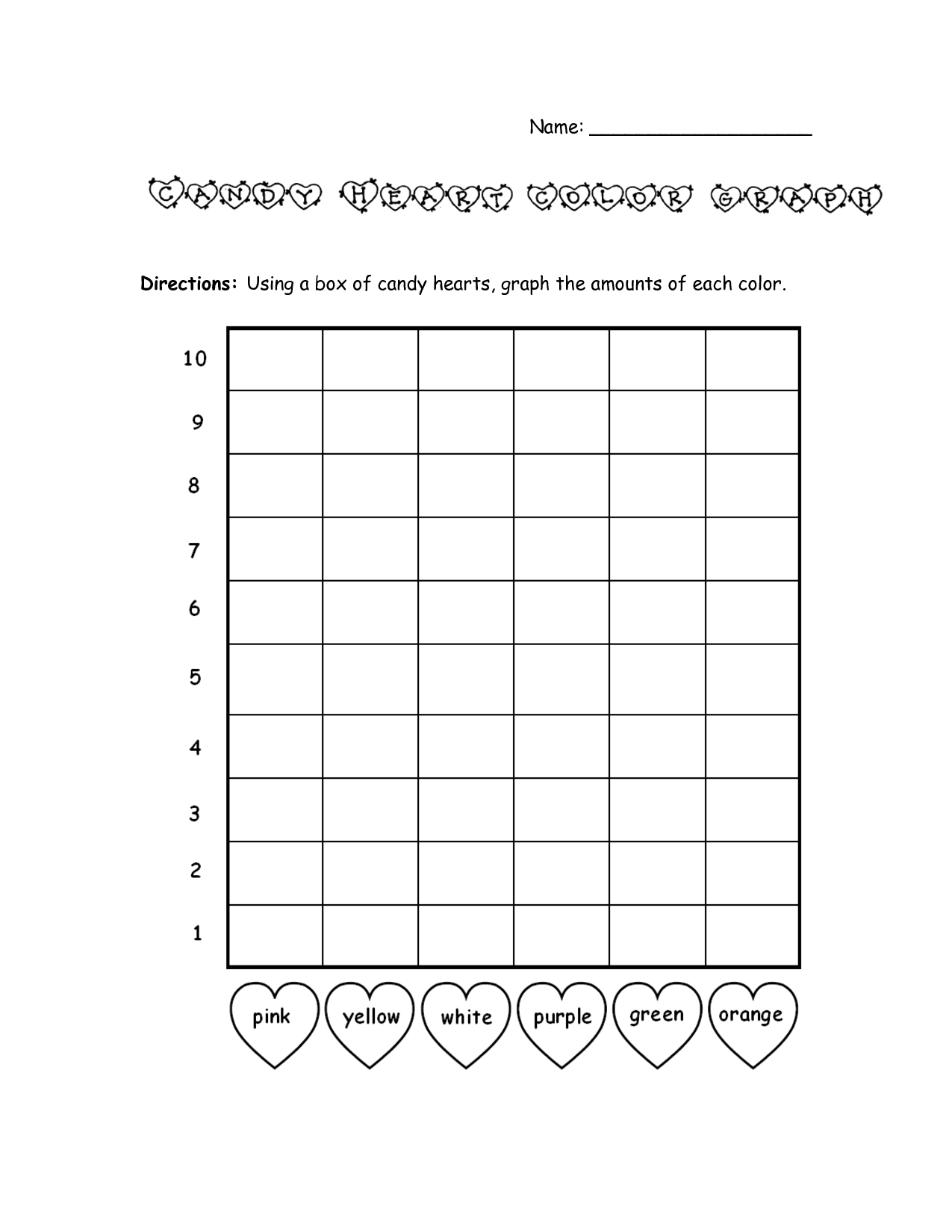 Bar Graph Template Valentines Day