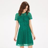Warehouse, MIXED LACE PROM DRESS Bright Green 3 | wedding ...