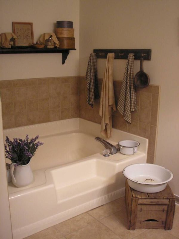 Primitive Place & Colonial Inspired Bathrooms. Decor Valence