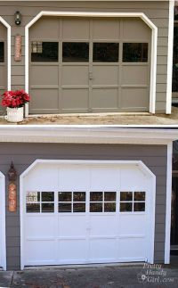 How to add fake grilles to garage door windows | Pretty ...