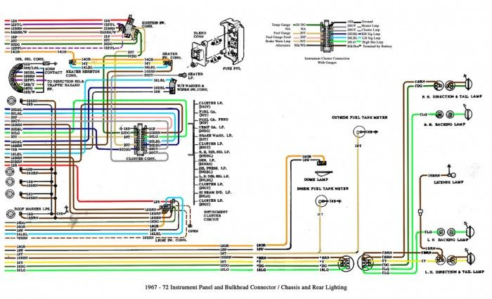 1967 72 Chevy Truck Cab And Chassis Wiring Diagrams 68 Chevy C10