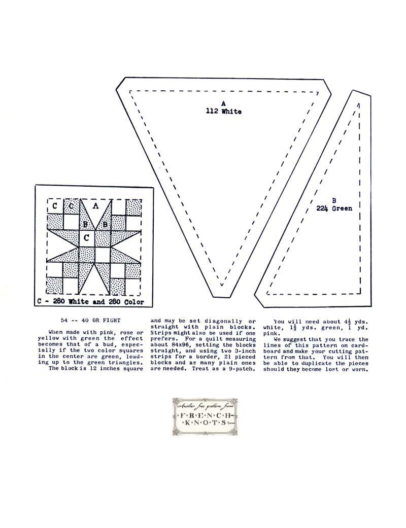 54 40 quilt block pattern | Free Quilting Pattern 54