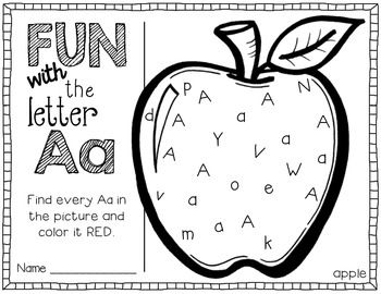 fun with letters A-Z {printables} would be a great center