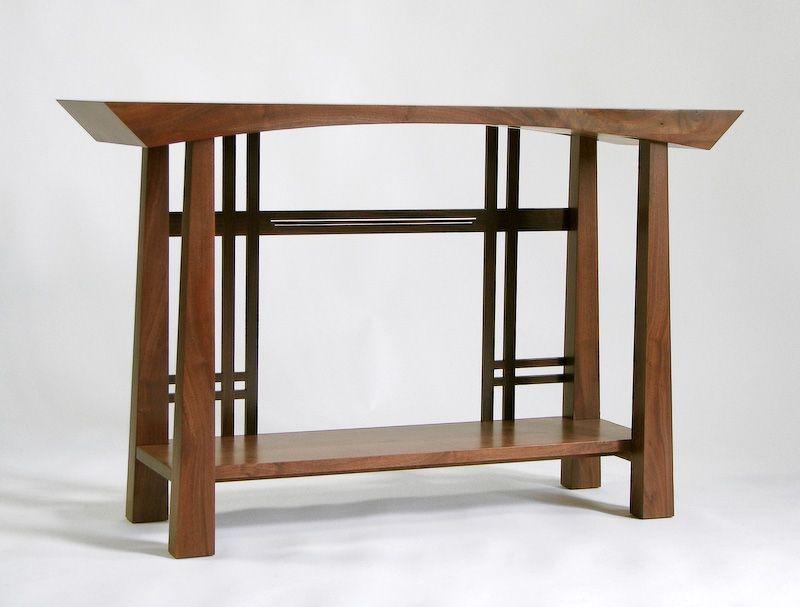 Masamune Japanese style custom entry table. Asian inspired