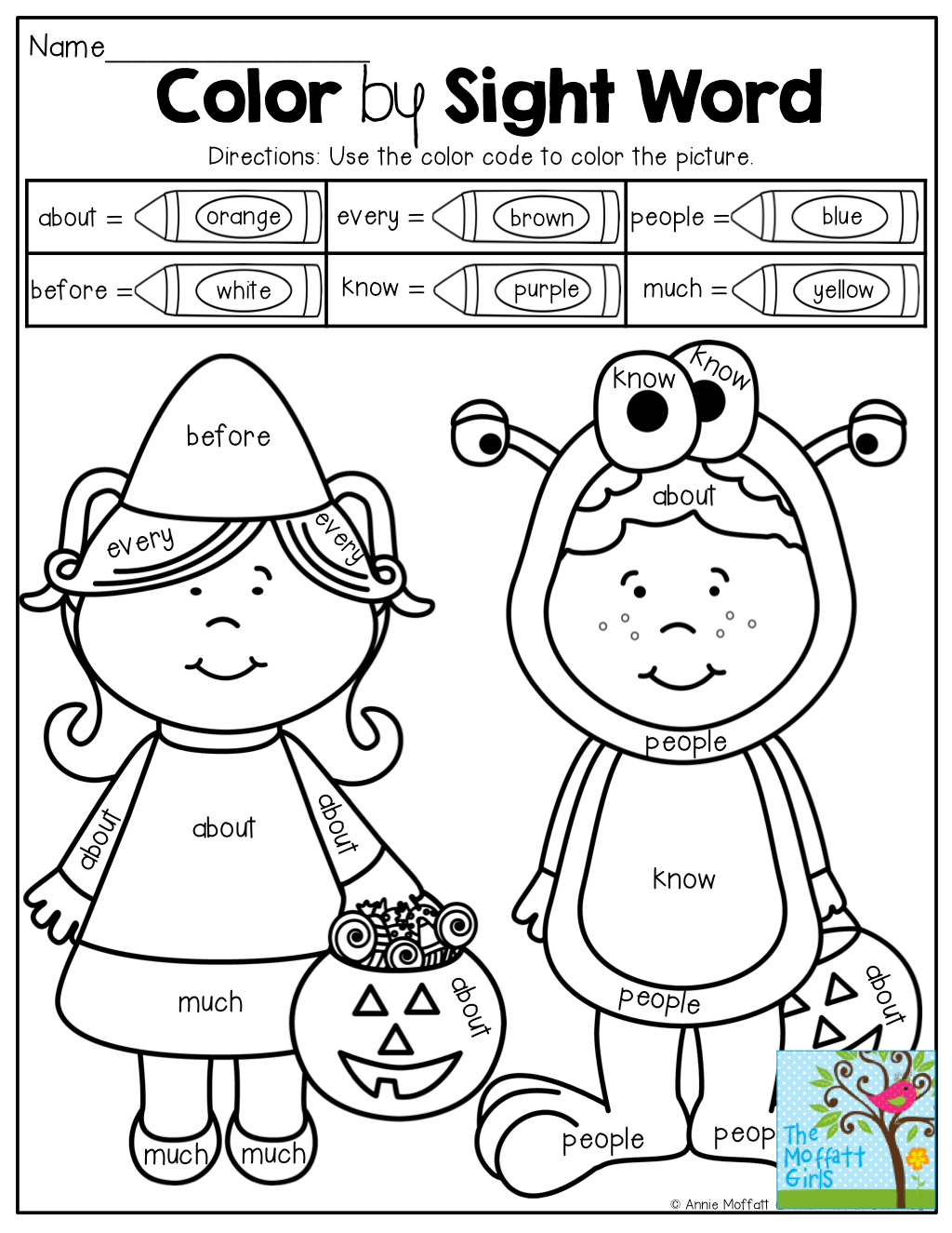 Color By Sight Word And Other Fun Printables