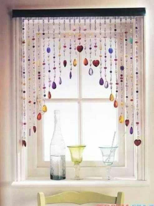 Hippie Beaded Bangle Door Window Curtain Groovy Vintage Retro