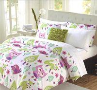 Cynthia Rowley 3 Pc Twin Comforter Bedding Set Owl Fox ...