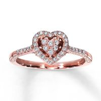 Rose Gold Promise Rings - Kay - Diamond Promise Ring 1/4 ...