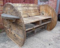 Pallet & Cable Drum Benches | Drums, Pallets and Bench