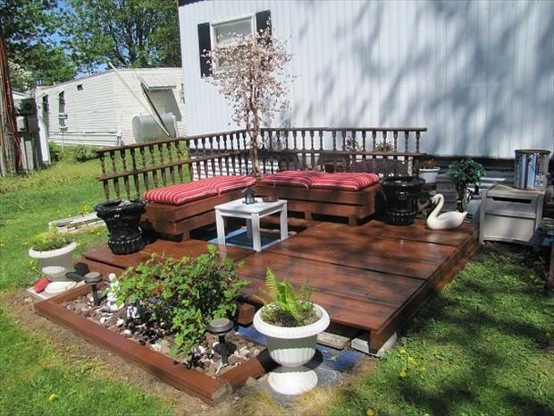 terrasse aus paletten bauen - boisholz,