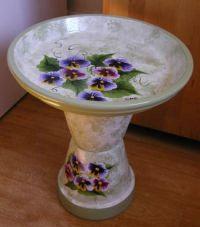 Bird Bath Ideas   Painted Flower Pot Bird Baths   Projects ...