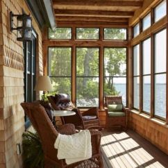 Timber Ridge Outdoor Chairs Wrought Iron Table And Lake House Screened In Porch | Make Mine Rustic Pinterest Porch, Screens Lakes