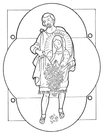 Juan Diego and the Virgin of Guadalupe free coloring pages