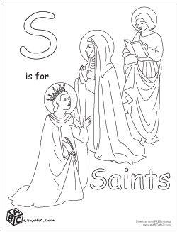 free coloring pages and Catholic videos for toddlers