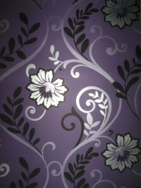 Stunning purple & silver feature wallpaper | Purple ...