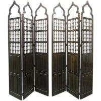 Pair Moroccan Style Wood Room Dividers / Screens | Room ...