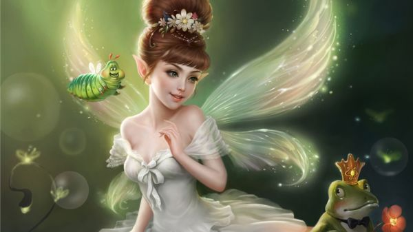 Beautiful Little Girl Fairies