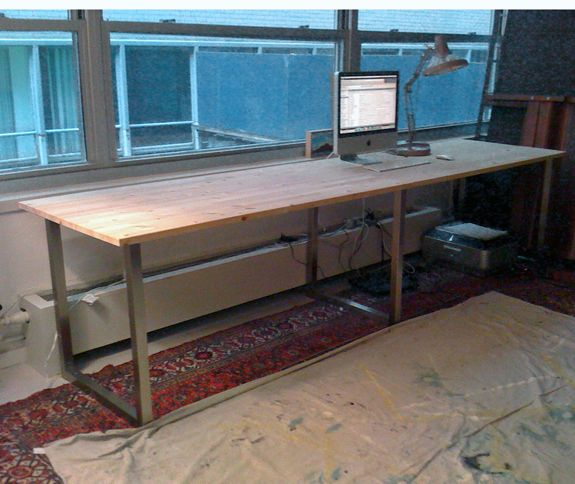 Love This Desk It Is Made From Interchangeable Legs And