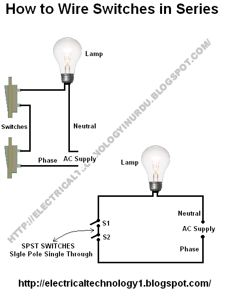 How To Wire Switches In Series Basic Home Electrical Wiring