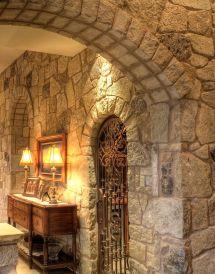 Tuscan Interior Stone Wall Designs