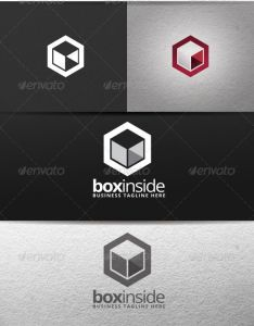 Box inside logo also logos and templates rh pinterest