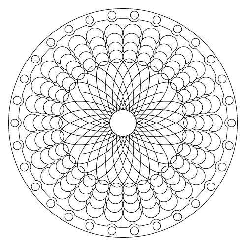 32 coloriage Mandala