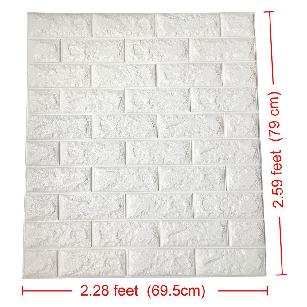 Peel  stick  wall panels white brick wallpaper also  rh in pinterest