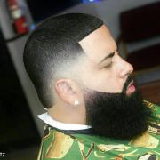 fade hairstyles with beard