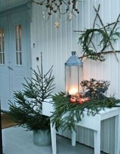 comfy rustic outdoor christmas decor ideas interior decorating and home design also rh pinterest