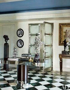Designers  own entrance halls also interior designer richard mishaan  art filled residence in new york rh pinterest