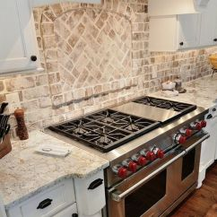 Brick Backsplash In Kitchen Trolley Cart White Springs Granite With
