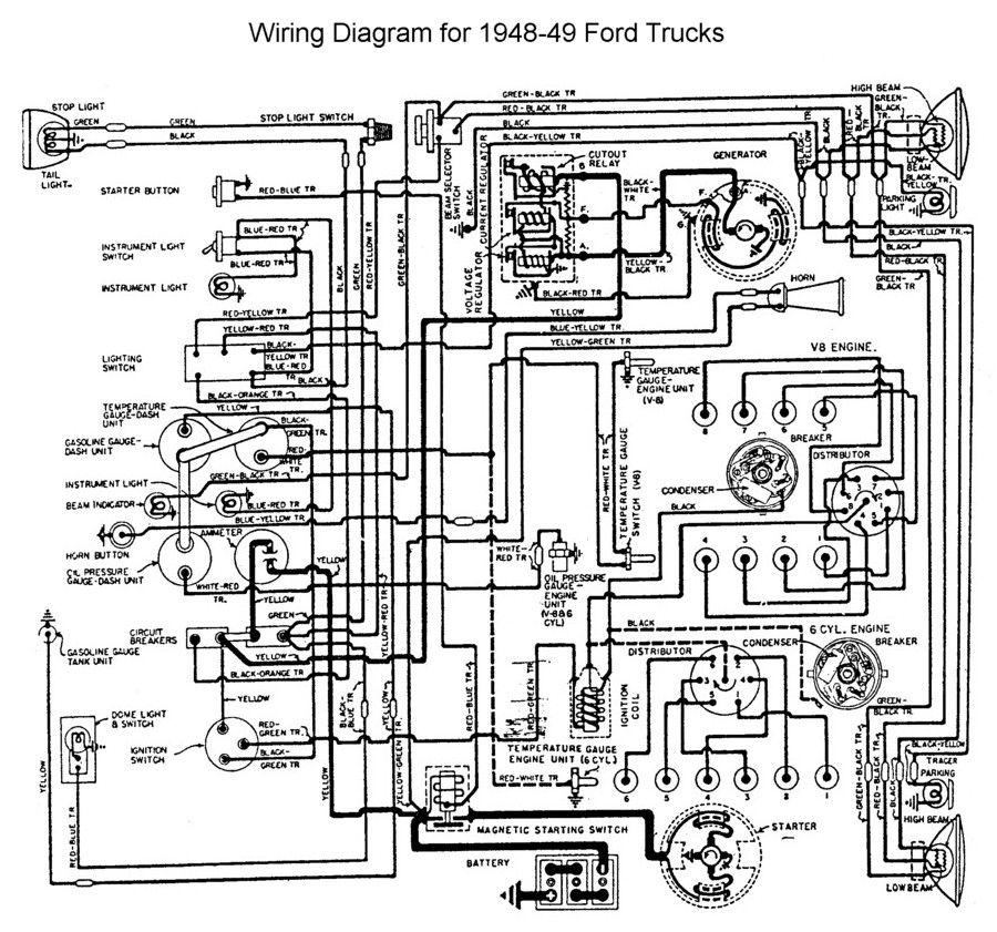 Wiring For 1948 To 49 Ford Trucks Wiring Pinterest Ford