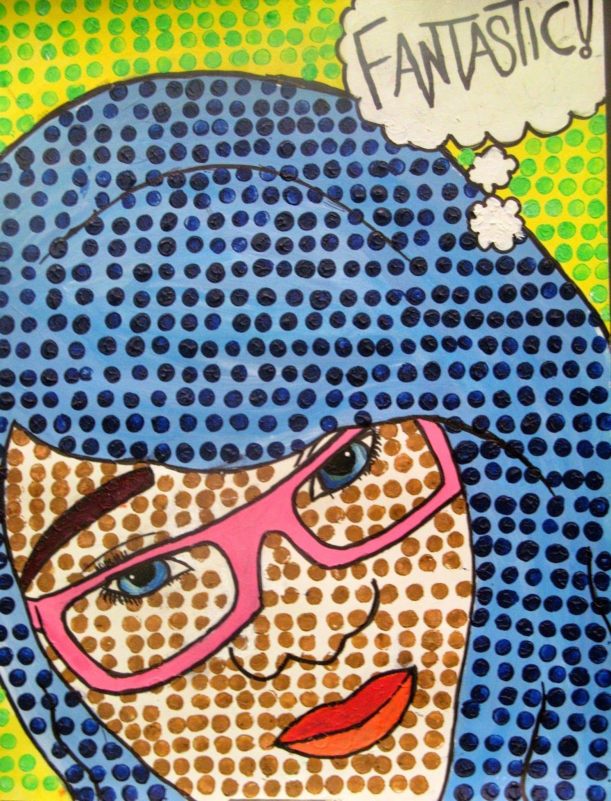 Pop Art Self Portraits Roy Lichtenstein Inspired Bristol