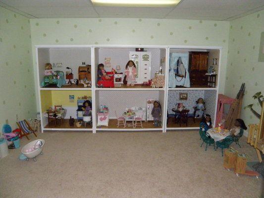 American Girl Dollhouse All Wallpapered AG Pinterest