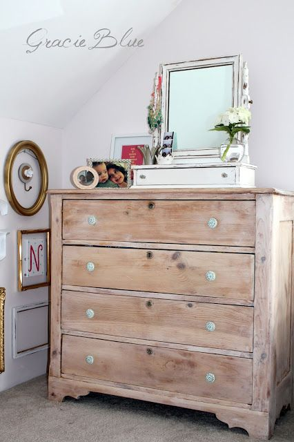 White Wooden Chest Drawers