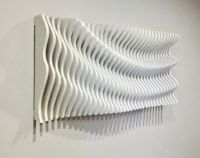 Wood Wall Art, Modern Art, Parametric Wave, 3D Art, Wall