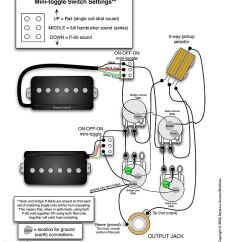 Les Paul Wiring Diagram Coil Tap Car Trailer With Brakes Seymour Duncan P-rails - 2 P-rails, Vol, Tone, On-off-on Mini Toggle For Each ...