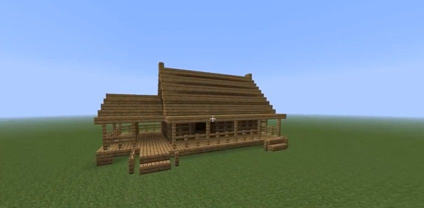 How To Build A Fast Wooden House Minecraft House Design