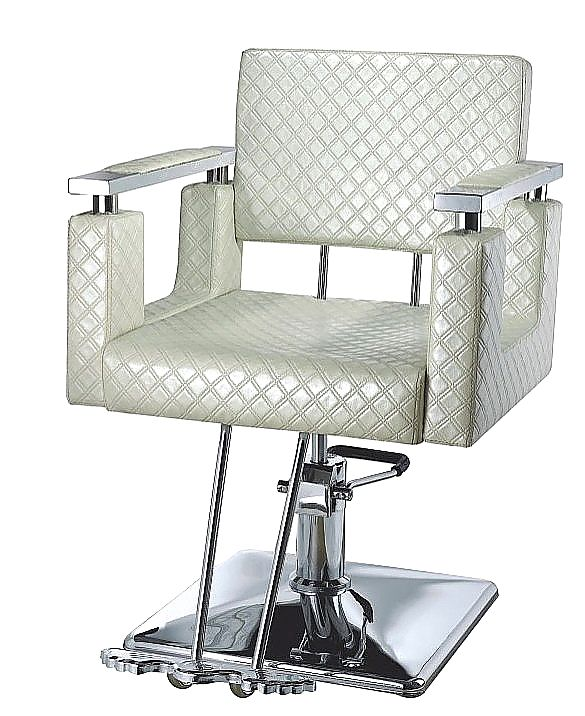 Louis Styling Chair in pearl white  Salon Equipment