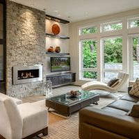 Entertainment Wall Units With Fireplace Design Ideas ...