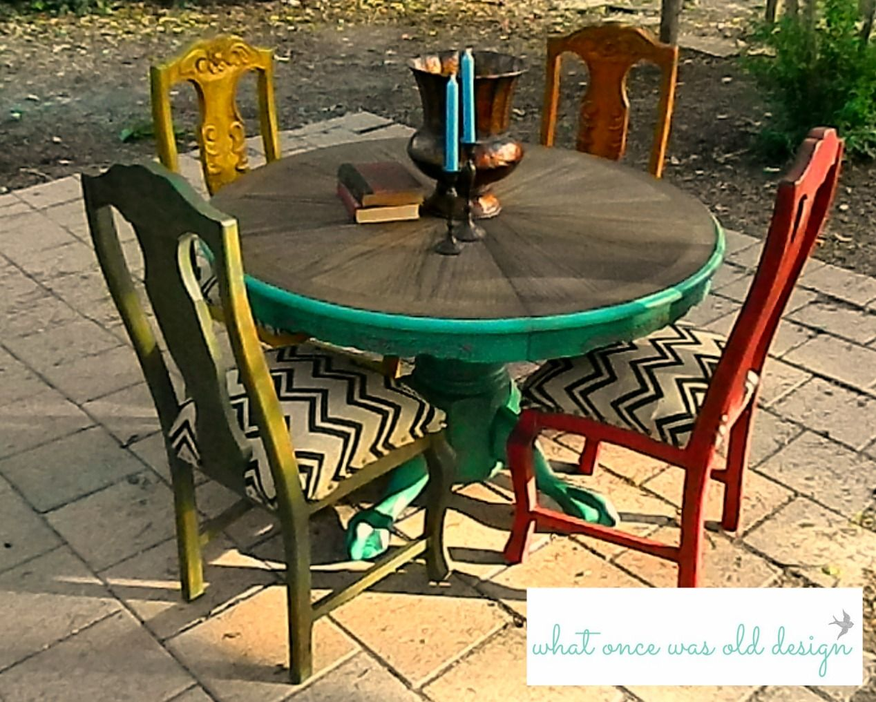 mexican dining room table and chairs bean bag for teens painted style rustic aged look