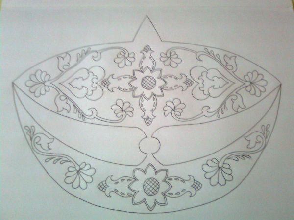 Lukisan Corak Wau Simple Cikimm Com
