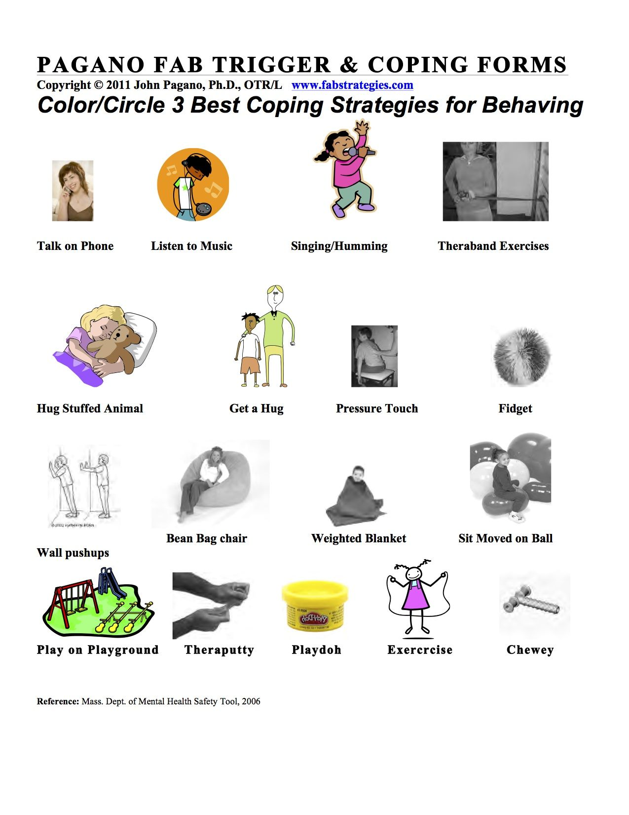 Triggers And Coping Strategies Worksheets I D Include