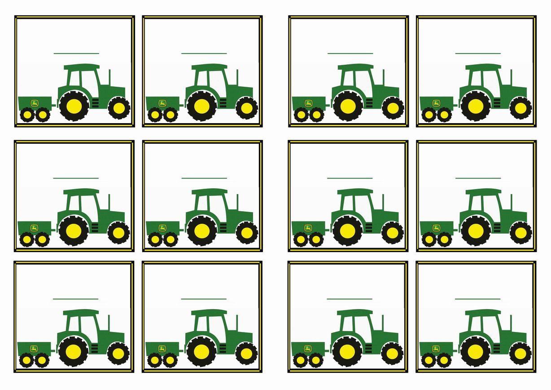 Free Printable John Deer Tractor Themed Name Tags Themed Name Tags