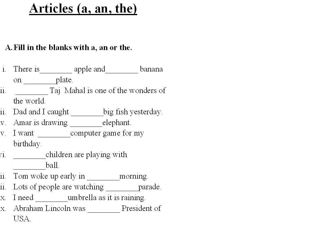 Saved Free Printable English Grammar Worksheets For Grade